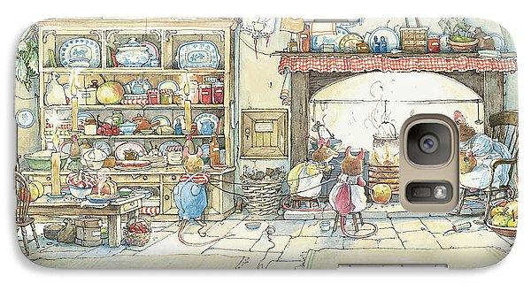The Kitchen At Crabapple Cottage Galaxy S7 Case by Brambly Hedge