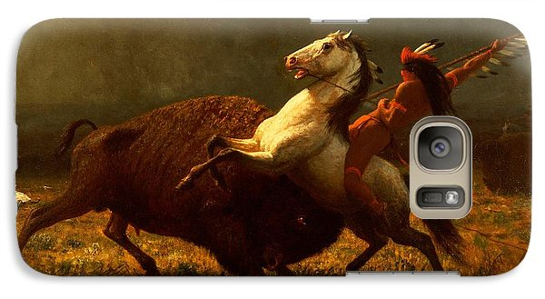 The Last Of The Buffalo Galaxy Case by Albert Bierstadt