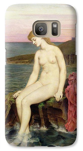 The Little Sea Maid  Galaxy Case by Evelyn De Morgan