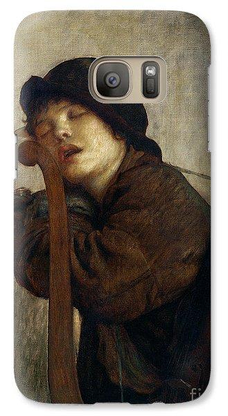 The Little Violinist Sleeping Galaxy Case by Antoine Auguste Ernest Hebert