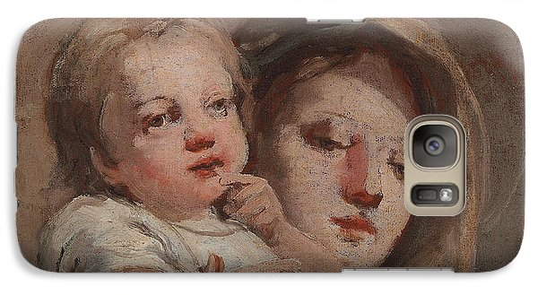 The Madonna And Child With A Goldfinch Galaxy Case by Tiepolo