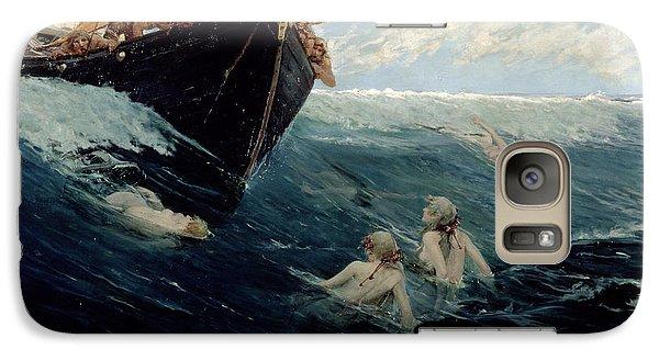 The Mermaid's Rock Galaxy Case by Edward Matthew Hale
