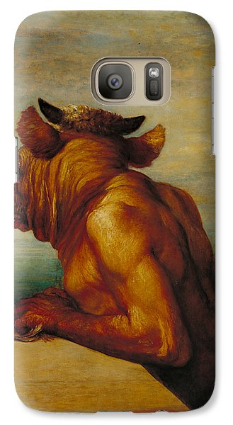 The Minotaur Galaxy S7 Case by George Frederic Watts