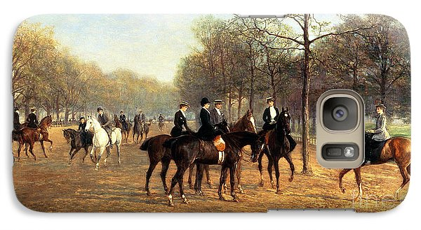 The Morning Ride Rotten Row Hyde Park Galaxy Case by Heywood Hardy