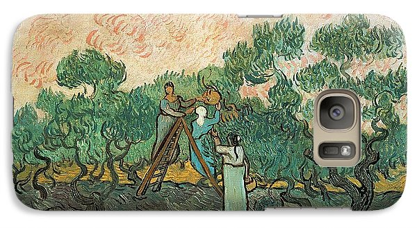 The Olive Pickers Galaxy Case by Vincent van Gogh