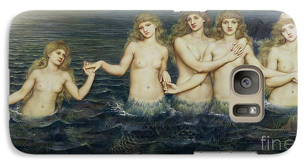 The Sea Maidens Galaxy Case by Evelyn De Morgan
