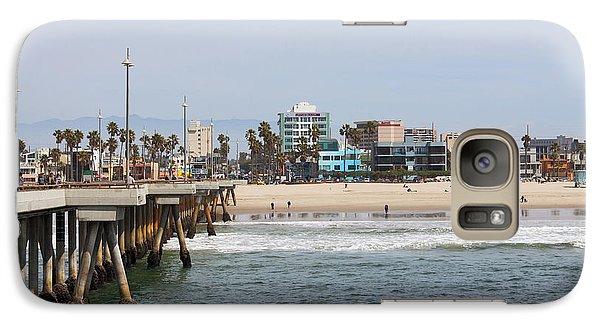 The South View Venice Beach Pier Galaxy Case by Ana V Ramirez