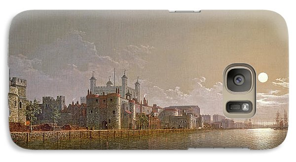 The Thames By Moonlight With Traitors' Gate And The Tower Of London Galaxy Case by Henry Pether