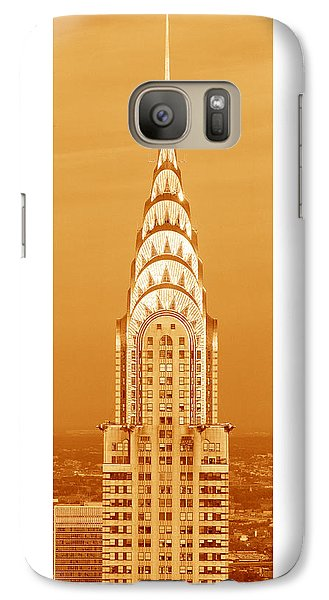 Chrysler Building At Sunset Galaxy S7 Case by Panoramic Images