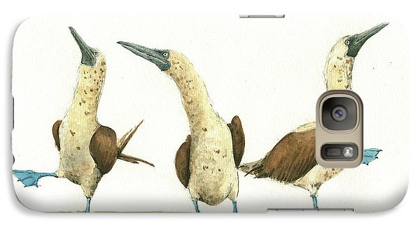 Three Blue Footed Boobies Galaxy S7 Case by Juan Bosco