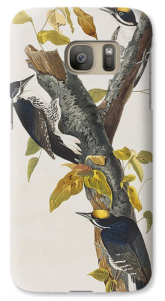 Three Toed Woodpecker Galaxy S7 Case by John James Audubon