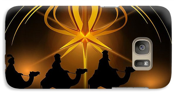 Three Wise Men Christmas Card Galaxy S7 Case by Bellesouth Studio
