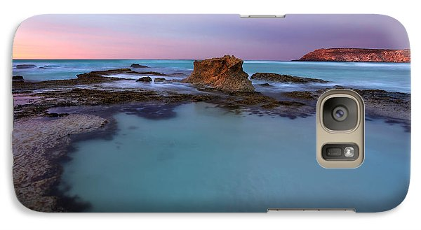 Tidepool Dawn Galaxy Case by Mike  Dawson