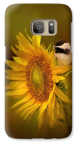 Tiny Surprise Bird Art Galaxy Case by Jai Johnson