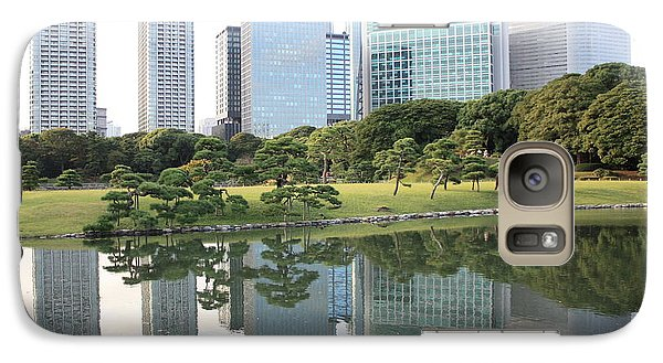 Tokyo Skyline Reflection Galaxy S7 Case by Carol Groenen