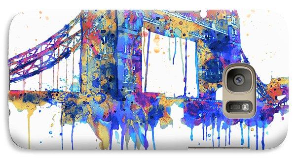 Tower Bridge Watercolor Galaxy Case by Marian Voicu