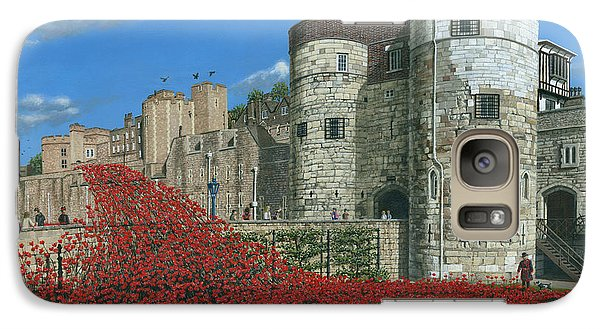 Tower Of London Poppies - Blood Swept Lands And Seas Of Red  Galaxy Case by Richard Harpum