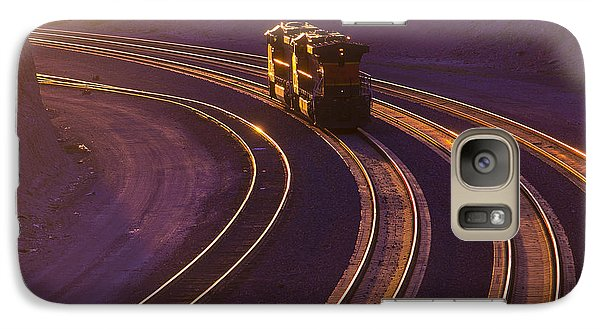 Train At Sunset Galaxy Case by Garry Gay