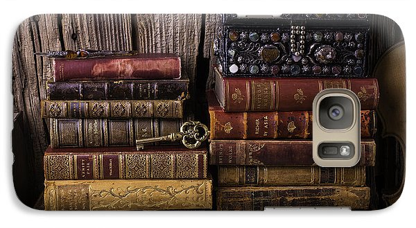 Treasure Box On Old Books Galaxy Case by Garry Gay