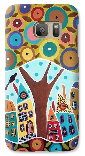 Tree Eight Houses And A Bird Galaxy S7 Case by Karla Gerard