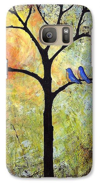 Tree Painting Art - Sunshine Galaxy S7 Case by Blenda Studio