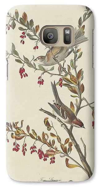 Tree Sparrow Galaxy S7 Case by John James Audubon