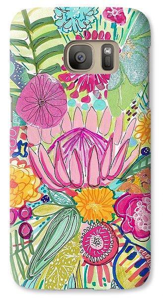 Tropical Foliage Galaxy S7 Case by Rosalina Bojadschijew