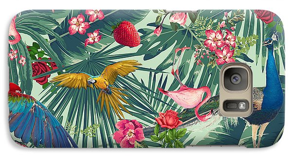 Tropical Fun Time  Galaxy S7 Case by Mark Ashkenazi