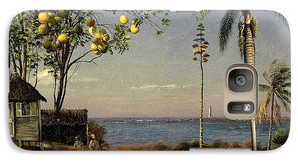 Tropical Scene Galaxy S7 Case by Albert Bierstadt