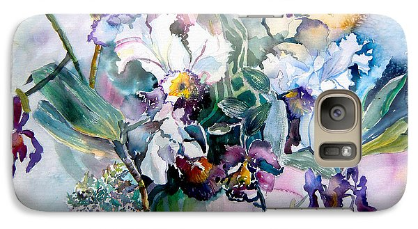 Tropical White Orchids Galaxy S7 Case by Mindy Newman