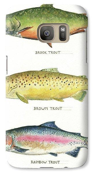 Trout Species Galaxy S7 Case by Juan Bosco