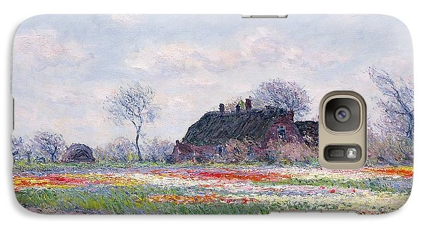 Tulip Fields At Sassenheim Galaxy Case by Claude Monet