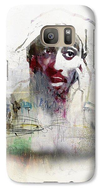 Tupac Graffitti 2656 Galaxy S7 Case by Jani Heinonen