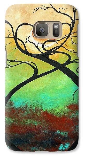 Twisting Love II Original Painting By Madart Galaxy S7 Case by Megan Duncanson