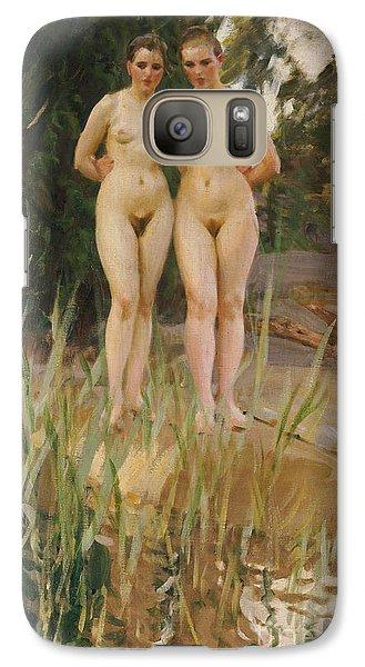 Two Friends  Galaxy Case by Anders Leonard Zorn