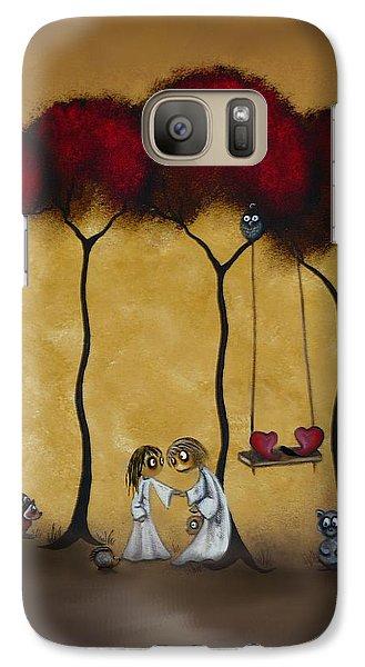Two Hearts Galaxy Case by Charlene Zatloukal