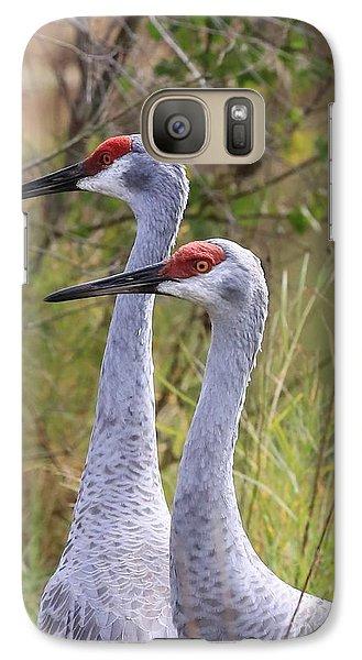 Two Sandhills In Green Galaxy S7 Case by Carol Groenen