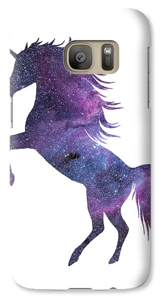 Unicorn In Space-transparent Background Galaxy S7 Case by Jacob Kuch
