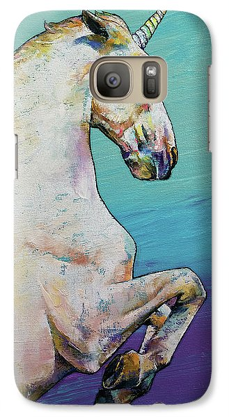 Unicorn Galaxy S7 Case by Michael Creese