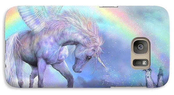 Unicorn Of The Rainbow Galaxy Case by Carol Cavalaris