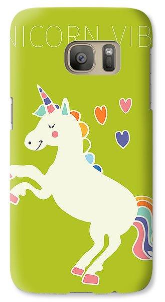 Unicorn Vibes Galaxy S7 Case by Nicole Wilson