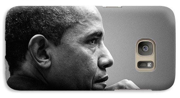 United States President Barack Obama Bw Galaxy S7 Case by Celestial Images