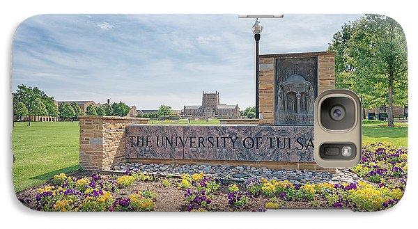 University Of Tulsa Mcfarlin Library Galaxy Case by Roberta Peake