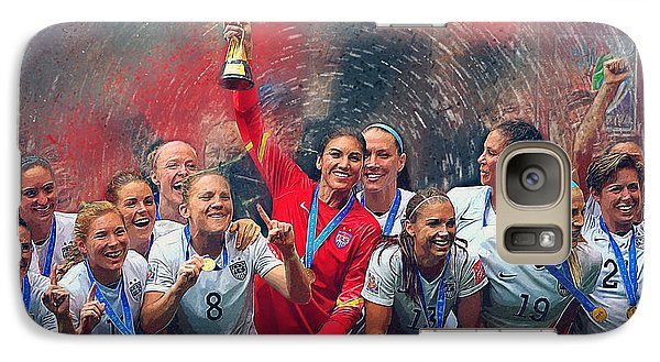 Us Women's Soccer Galaxy Case by Semih Yurdabak