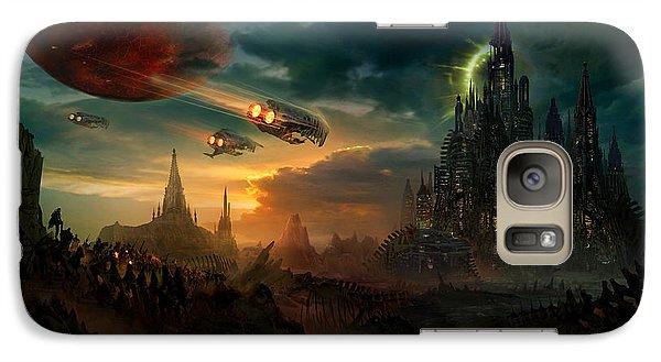 Utherworlds Sosheskaz Falls Galaxy Case by Philip Straub