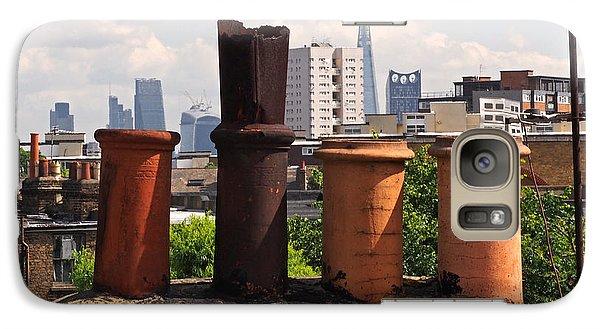 Victorian London Chimney Pots Galaxy Case by Rona Black