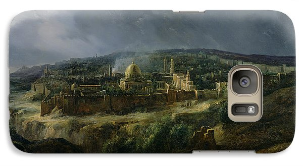 View Of Jerusalem From The Valley Of Jehoshaphat Galaxy S7 Case by Auguste Forbin