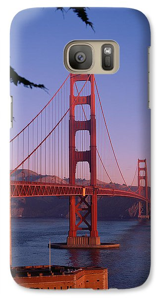 View Of The Golden Gate Bridge Galaxy S7 Case by American School