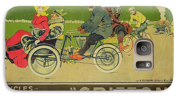 Vintage Poster Bicycle Advertisement Galaxy S7 Case by Walter Thor