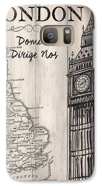 Vintage Travel Poster London Galaxy Case by Debbie DeWitt